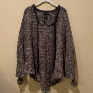Women's poncho sweater - new with tags